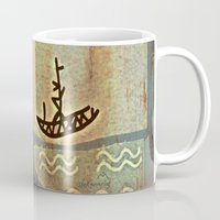 boat Mugs featuring Boat by Menchulica