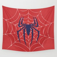 spider Wall Tapestries featuring Spider by Vickn