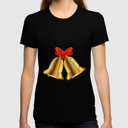 Two Christmas Bells Tied With Red Ribbon T-shirt