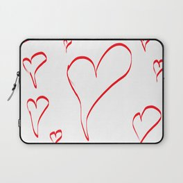 Several red hearts, love, sentimentality, romanticism Laptop Sleeve