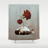 soul Shower Curtains featuring Soul by Bente Schlick