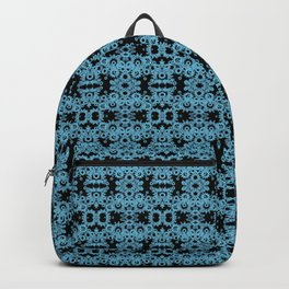 Blue Gothic Geometric Lace Backpack