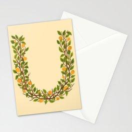 Leafy Letter U Stationery Cards