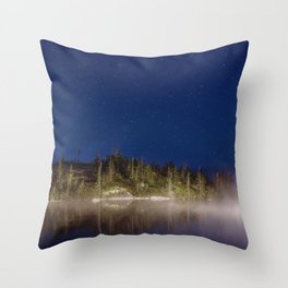 Midnight Mist Throw Pillow
