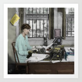 Winifred Carney Art Print