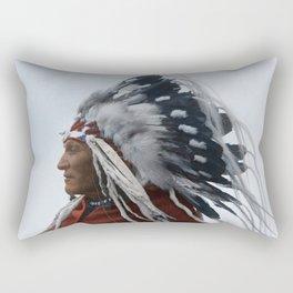 Lazy Boy - Blackfoot Indian Chief Rectangular Pillow