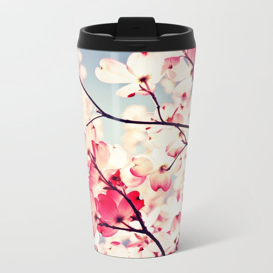 Dialogue With the Sky - Blue tones Metal Travel Mug