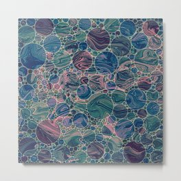 Marble Effect Dots 4 Metal Print