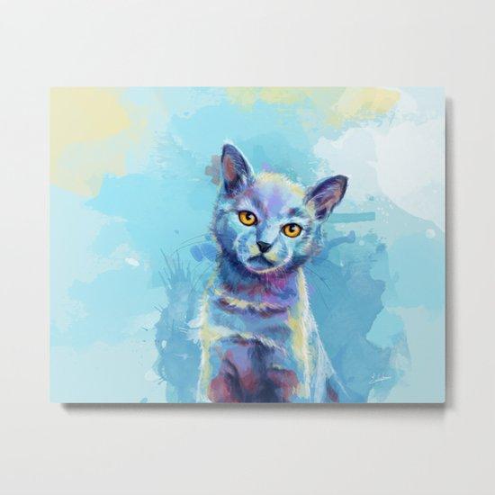 Kingdom of Innocence - cat painting Metal Print