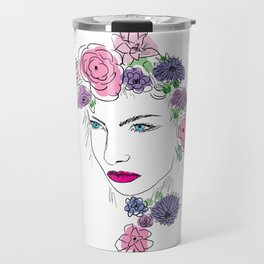 Girl with the Flowers Travel Mug