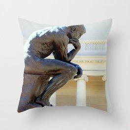 I Am, I Think... Throw Pillow
