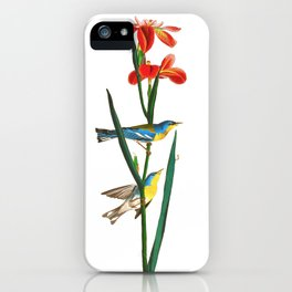Bird & Red Flowers iPhone Case