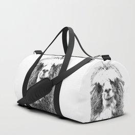 Black and White Alpaca Duffle Bag