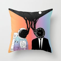 A Portrait of Space and Time ( A Study of Existence) Throw Pillow