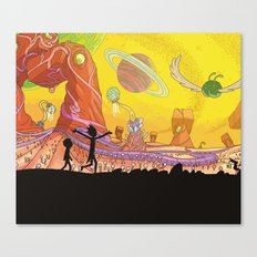Rick and Morty - Silhouette Canvas Print