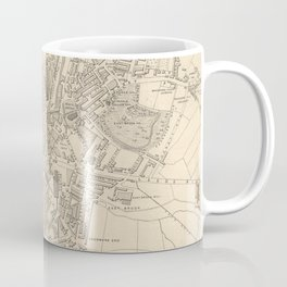 Vintage Map of Bradford England (1851) Coffee Mug