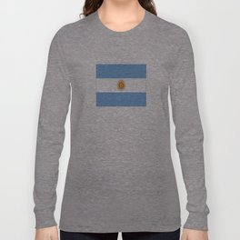 Flag of argentina -Argentine,Argentinian,Argentino,Buenos Aires,cordoba,Tago, Borges. Long Sleeve T-shirt