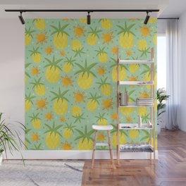 Pineapple Sunshine Wall Mural
