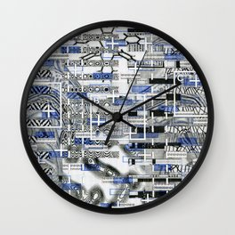 The Cost-Benefit Analysis of Balls (P/D3 Glitch Collage Studies) Wall Clock