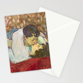 "Henri de Toulouse-Lautrec ""In Bed. The Kiss"" Stationery Cards"