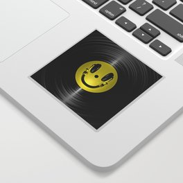 Vinyl headphone smiley Sticker