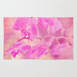 Scripted Orchid Rug
