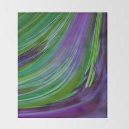 Purple Green Contemporary Abstract Throw Blanket