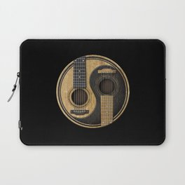 Aged Vintage Acoustic Guitars Yin Yang Laptop Sleeve