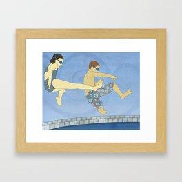 Jack Knife Pool Party Framed Art Print