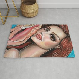 Listen by Laurie Leigh Mermaid Art Rug