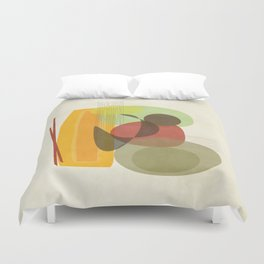 Woman on Couch Duvet Cover