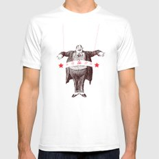 Am I Fat? Mens Fitted Tee MEDIUM White