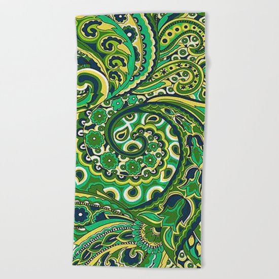 Floral Paisley Pattern 04 Beach Towel