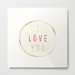 I Love You (Strawberries) Metal Print