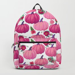 pink pumpkin fall watercolor, Thanksgiving Backpack