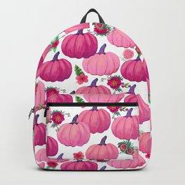 pink pumpkin fall watercolor, Thanksgiving Backpack