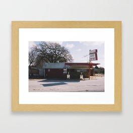 Abandoned Gas Station Framed Art Print