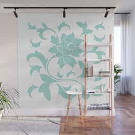 Oriental Flower - Limpet Shell On White Background Wall Mural