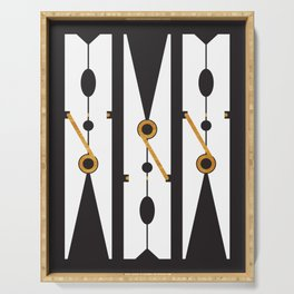 Laundry Clothespins - Gold, Black and White Serving Tray