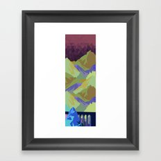 The Great, Great Night Mountain No. 10 Framed Art Print