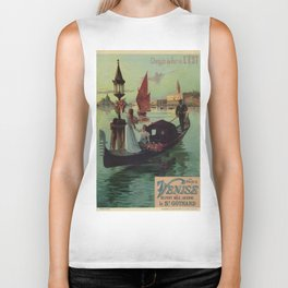 Paris Venice Victorian romantic travel Biker Tank