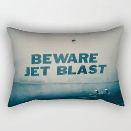 Beware Jet Blast Aircraft Warning Military Airplane Lettering Rectangular Pillow