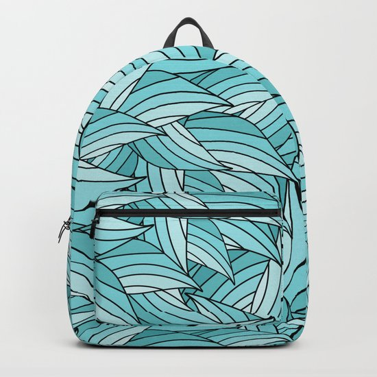ISLAND PARADISE LEAVES B (abstract flowers nature) Backpack
