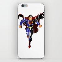 super hero iPhone & iPod Skins featuring Super Hero by Ayse Deniz