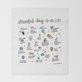 Stressful Day To-Do List Throw Blanket