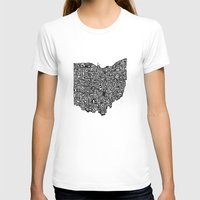 ohio state T-shirts featuring Typographic Ohio by CAPow!