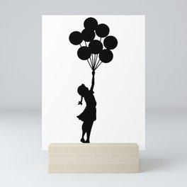 Banksy Girl With Balloons At Israeli-Palestine Wall, Palestinial Artwork, Prints, Posters, Bags, Men Mini Art Print