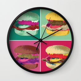Pop Art Burger #2 Wall Clock