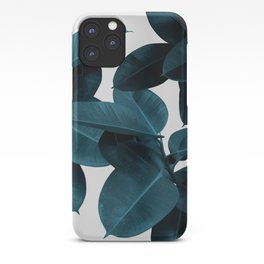 Indigo Blue Plant Leaves iPhone Case