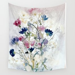 Meadow with Cornflowers Wall Tapestry